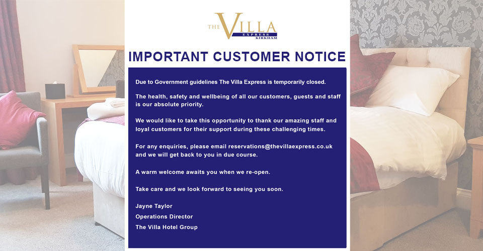 THE VILLA EXPRESS – UPDATED – MV